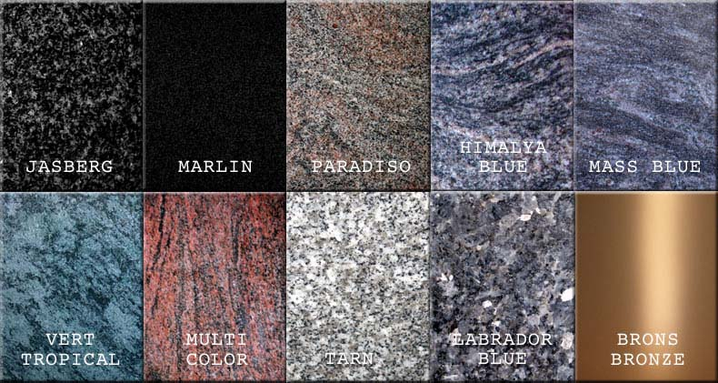Kleuren graniet
